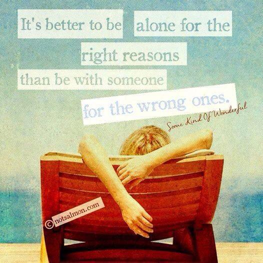 Learning to be alone after divorce